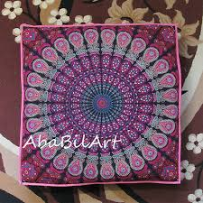 "35X35"" Zodiac Mandala Indian Floor Tie Dye Pillow <b>Cushion</b> Cover ..."