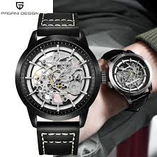 <b>Men</b> Luxury Brand PAGANI Leather Tourbillon Watch <b>Automatic</b> ...