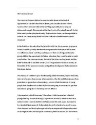 the american dream definition essay essay on american dream the american dream   essay i engelsk   studienettno the