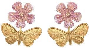 We Dream in Colour Sakura Post Earrings RO1121 ... - Amazon.com