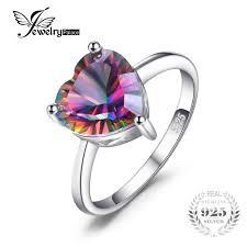 Jewelrypalace Heart <b>Genuine Mystic</b> Fire Rainbow Topaz Pendant ...