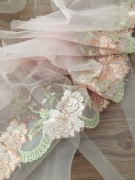<b>5 yards</b>/lot <b>Exquisite</b> pink embroidered <b>soft</b> tulle lace trim, doll drees ...