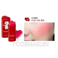 <b>Румяна</b>-<b>стик</b> The Saem <b>Over Action Little</b> Rabbit Love Me Stick ...