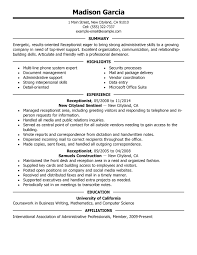 resume examples  resume for a job samples  format of resume for        resume examples  resume for a job samples with receptionist experience  resume for a job
