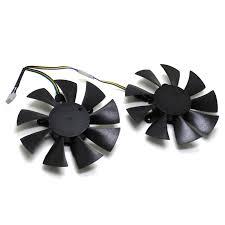 <b>2pcs/Lot 85mm 4pin</b> Cooler Fan Replace For ZOTAC GTX 1070 ...
