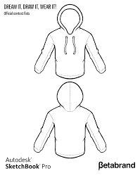 dream it draw it wear it contest template for hoodies here and