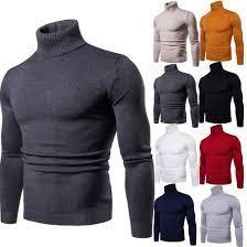 FAVOCENT <b>Winter Warm Turtleneck Sweater</b> Men Fashion Solid ...