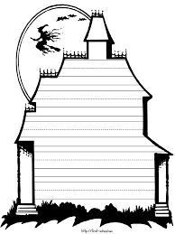 writing paper halloween theme haunted house printable core connection have the kids createa spooky halloween artwork and then write their description critique of their work on this