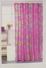 Flower Power Pink Girls Bathroom Shower Curtain ... - Amazon.com