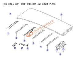 04.ROOF SKELETON AND COVER PLATE(HF-5701-A) купить в ...
