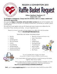 raffle basket region six convention 2015 raffle basket color flyer 150205