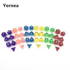 Yernea <b>7Pcs Set High</b> quality Multiaspect Dice Multi Color ...