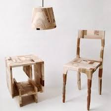 this furniture pictured is made from bits and pieces of leftover wood and bits and pieces furniture