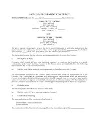usa construction industry forms legal forms and business california home improvement contract