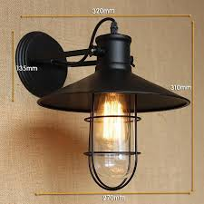 antique matte black lantern outdoor wall lamp sconce ac 90 260v metal vintage industrial loft antique industrial lighting fixtures