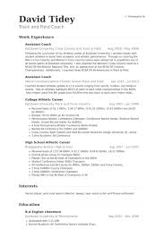 Assistant Coach Resume Samples - VisualCV Resume Samples Database Assistant Coach Resume Samples