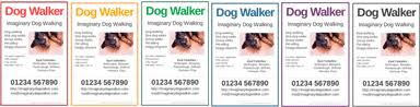 FREE Dog Walker posters & flyers - advertise your dog walking ... Dog walker poster maker from DogWalkerDirectory.co.uk