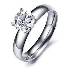 Paialco <b>Jewelry Titanium</b> Steel Solitaire Engagement <b>Ring</b> 1ct ...