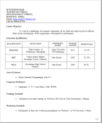 resumes examples for freshers - Template - Template resumes examples for freshers