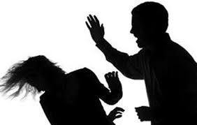 Image result for man hitting woman silhouette