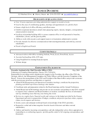 sample resume administrative assistant experience resumes gallery of sample resume administrative assistant
