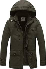 WenVen <b>Men's</b> Winter <b>Thicken Cotton</b> Parka <b>Jacket</b> Warm <b>Coat</b> with ...