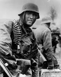 course of the battle   battle of the bulgea german ss panzer trooper geared up for winter during the battle of the bulge  image courtesy of time  amp  life pictures getty images