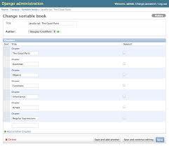 using admin sortable adminsortable documentation sortable tabular inlines