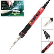 60W <b>LCD</b> Digital Soldering Iron <b>Temperature Adjustable</b> US/<b>EU</b> ...