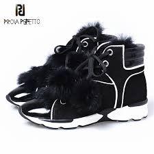 <b>Prova Perfetto</b> Luxury Genuine Leather With Bunny <b>Fur</b> Warm Ankle ...