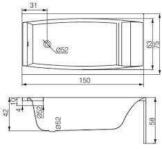 <b>Акриловая ванна Cersanit Virgo</b> 150x75 WP-VIRGO*150 в Москве ...