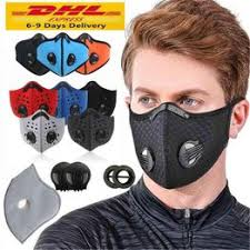US Stock Cycling Face Mask Activated Carbon with Filter ... - Vova