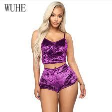 <b>WUHE</b> Plus Size XS XXL 2 Piece Set Velvet Sleepwear <b>Sexy</b> ...
