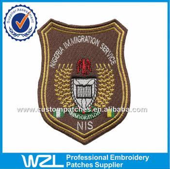 Nigeria immigration service officer badge