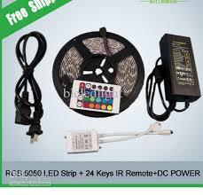 5m Set RGB SMD5050 <b>Flexible</b> Waterproof <b>Led</b> Strip Light +24Key ...