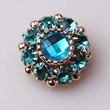 XINXI 10pcs Sea Blue <b>Rhinestone Acrylic</b> Flower <b>Embellishments</b> ...
