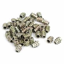 uxcell m6 rose joint adapter threaded rod bar stud round coupling connector nuts 5pcs