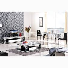 matching living room dining  high grade stainless steel apple tv cabinet marble coffee table fashi