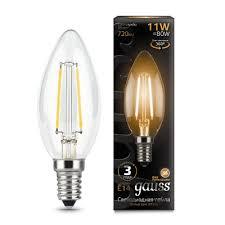 Светодиодная <b>лампа Gauss LED Filament</b> Свеча E14 11W 720lm ...