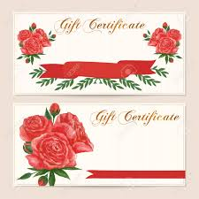 gift certificate voucher coupon reward gift card template gift certificate voucher coupon reward gift card template red vintage rose flowers