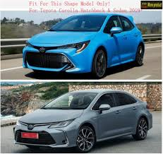 <b>Lapetus Accessories Fit For</b> Toyota Corolla 2019 2020 ABS Outside ...