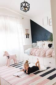 girls room playful bedroom furniture kids: black white and pink modern little girls room bedroomdesign kids bedroom sweetdesginideas modern