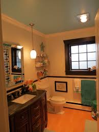 sagging tin ceiling tiles bathroom: your th wall e  a what  found this painted that bathroom