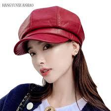 2019 <b>HANGYUNXUANHAO</b> Solid Casual Women Newsboy <b>Cap</b> ...