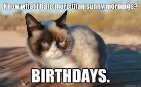 Grumpy Cat Birthdays memes   quickmeme via Relatably.com
