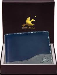 HORNBULL <b>Men Casual</b> Blue <b>Genuine Leather</b> Wallet Blue - Price ...