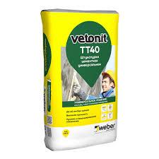 <b>Штукатурка цементная Weber</b>.vetonit ТТ40 фасадная 25 кг ...