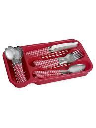 <b>Набор столовых</b> приборов 24 предмета с пластиковыми ручками ...