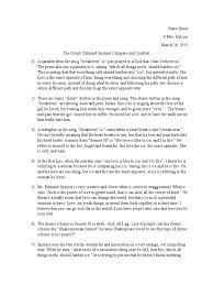 breakeven sonnet summary sonnets poetry