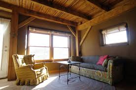 Timber Frame House   The Year of Mud strawtron   living space